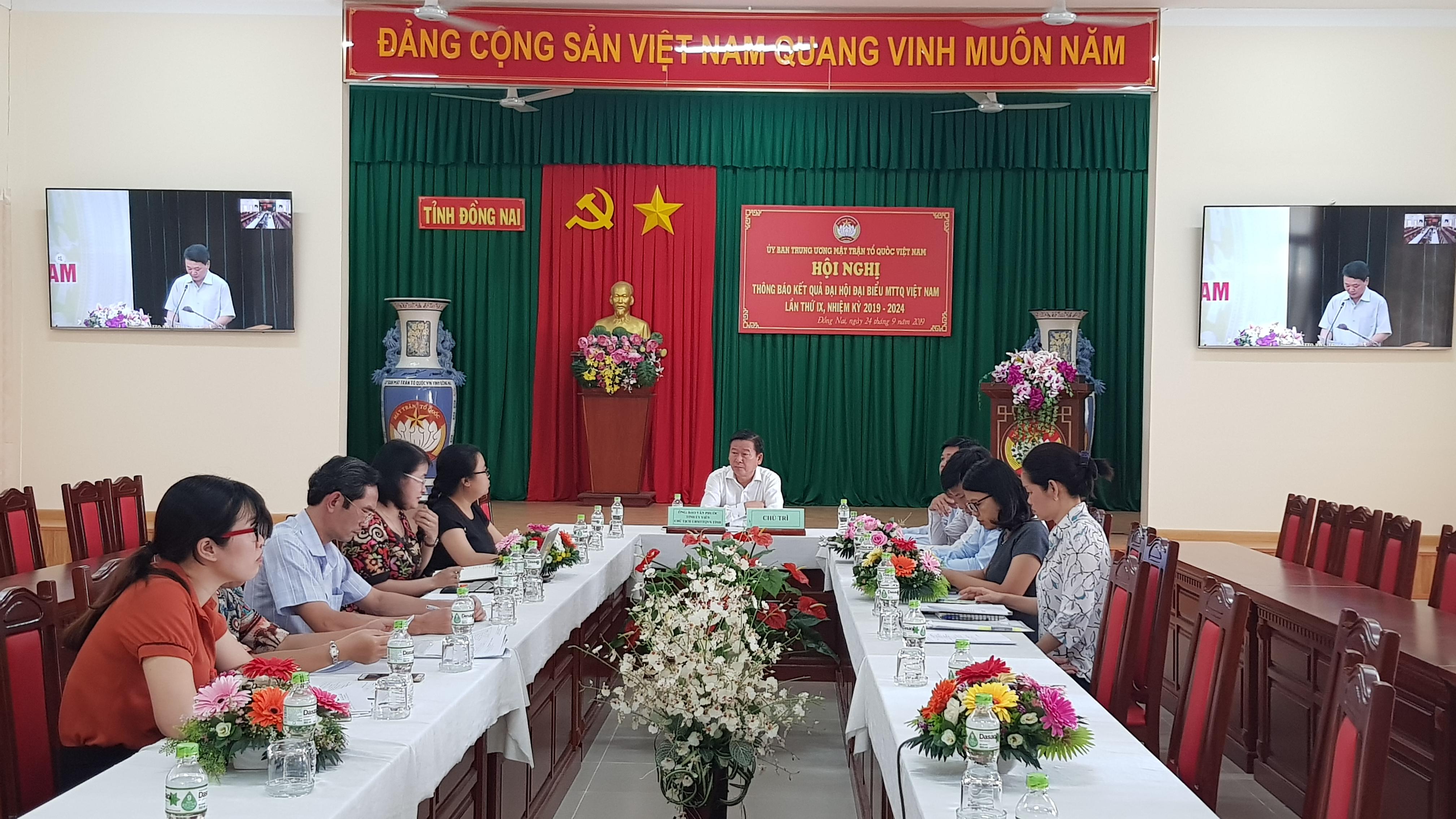 Hội nghị trực tuyến triển khai kết quả Đại hội toàn quốc MTTQ Việt Nam lần thứ IX
