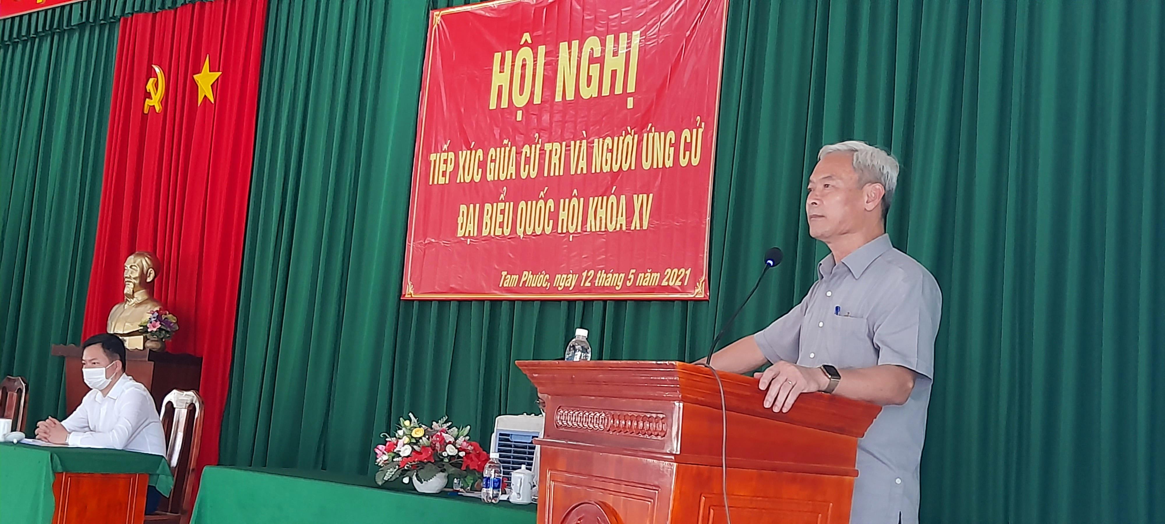 Những người ứng cử viên ĐBQH đơn vị số 1 tiếp xúc cử tri tại thành phố Biên Hòa