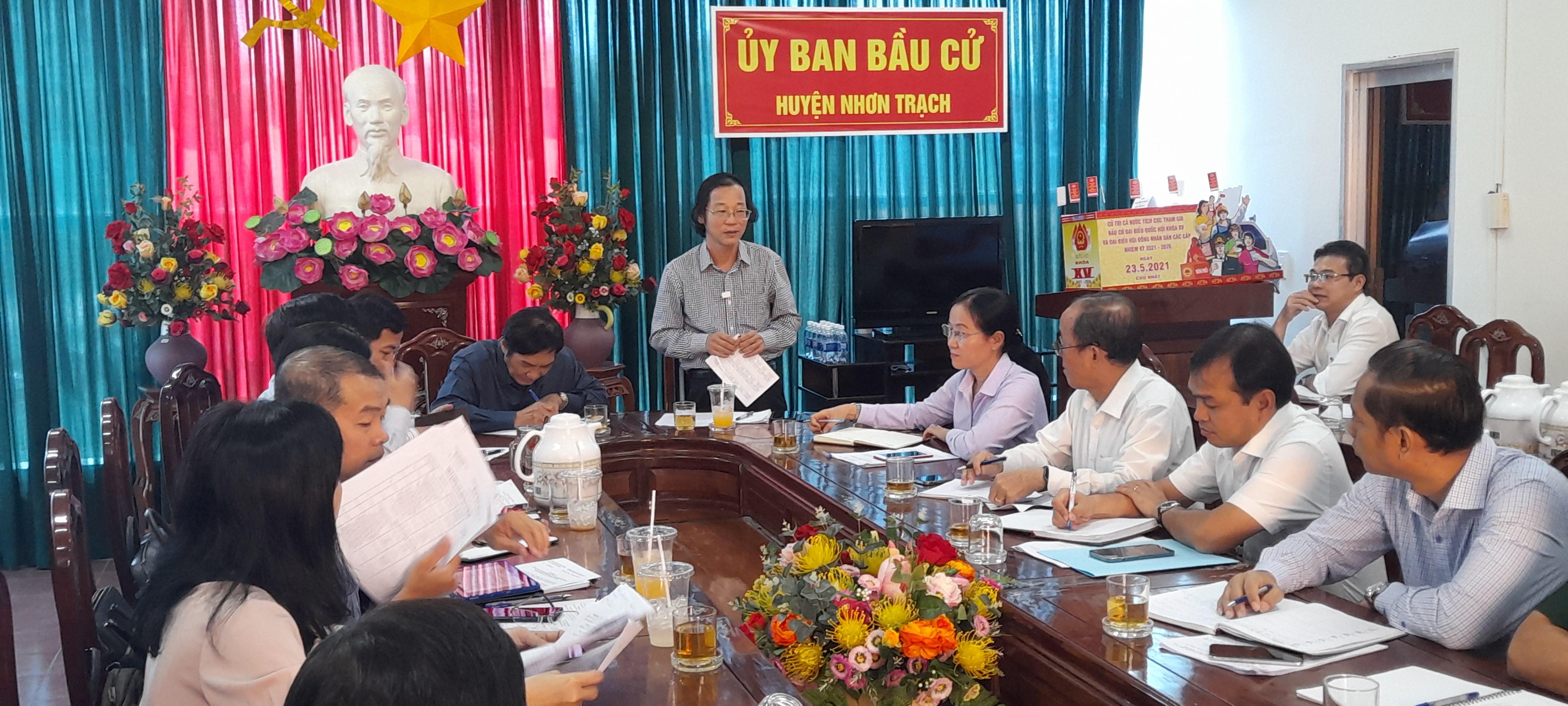 Thường trực Hội đồng nhân dân tỉnh giám sát công tác bầu cử tại Ủy ban bầu cử huyện Nhơn Trạch