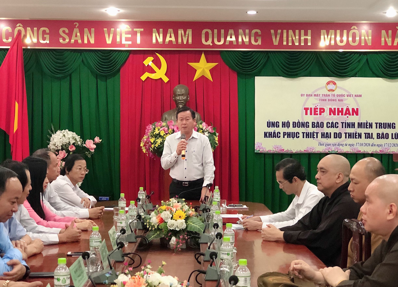 Ủy ban MTTQVN tỉnh Đồng Nai tiếp nhận hơn 09 tỷ đồng ủng hộ đồng bào các tỉnh miền Trung khắc phục t...