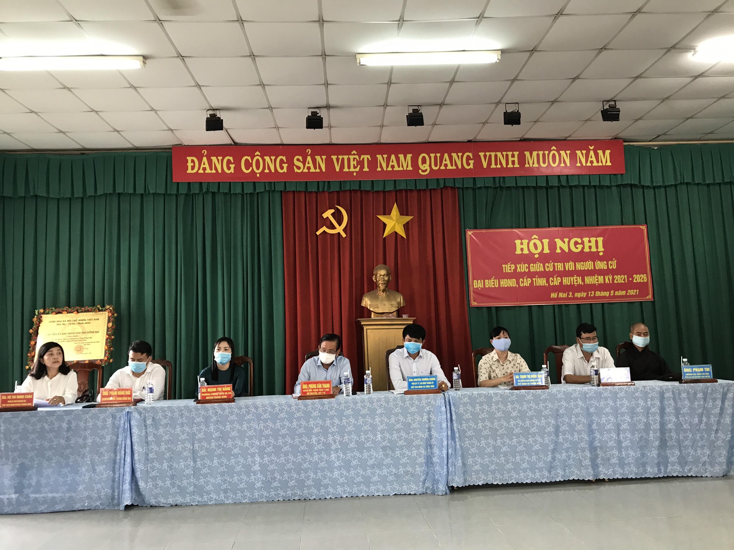 Hội nghị tiếp xúc giữa cử tri với người ứng cử Đại biểu HĐND cấp tỉnh, cấp huyện tại huyện Trảng Bom