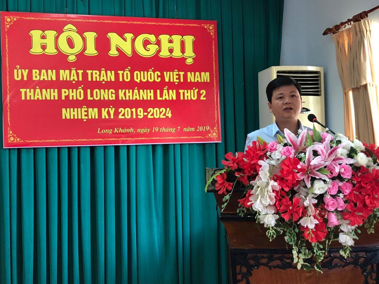 Ủy ban MTTQ Việt Nam thành phố Long Khánh sơ kết công tác 6 tháng đầu năm 2019